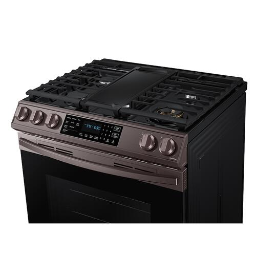 6.0 cu. ft. Front Control Slide-in Gas Range with Air Fry & Wi-Fi in Tuscan Stainless Steel