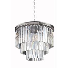 Sydney 9 light Polished nickel Chandelier Clear Royal Cut Crystal