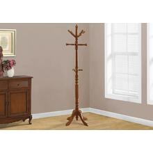 "COAT RACK - 73""H / OAK WOOD TRADITIONAL STYLE"