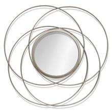 ORBITAL MIRROR II  1in X 30in  Orbital Mirror II  Contemporary Champagne Finish Metal Wall Mirror