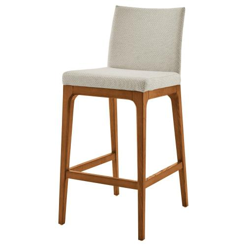Devon KD Fabric Counter Stool Walnut Legs, Cardiff Cream