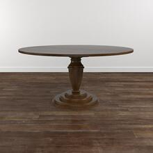 "Custom Dining 48"" Turned Ped. Stone Table"
