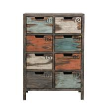 See Details - Tall 8 Drawer Apothecary Chest in Rustic Multicolor