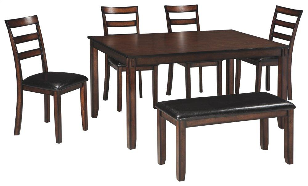 Ashley FurnitureCoviar Dining Table And Chairs With Bench (Set Of 6)