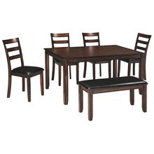 Coviar Dining Table Set Brown