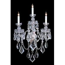 See Details - Traditional Crystal 3 Light Polished Chrome Hand Cut Crystal Sconce