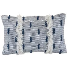 See Details - 14x22 Hand Woven Cadence Pillow Blue
