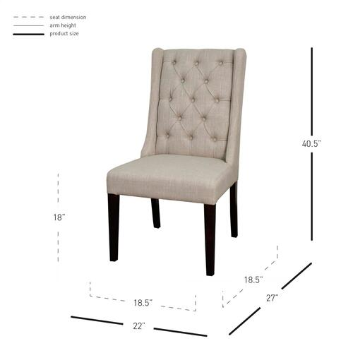 Ashton Fabric Tufted Chair Wenge Legs, Almond
