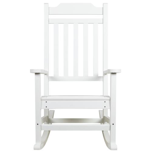 Flash Furniture - Winston All-Weather Poly Resin Rocking Chair in White