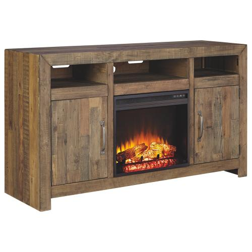 Signature Design By Ashley - Sommerford Large TV Stand With Fireplace Insert