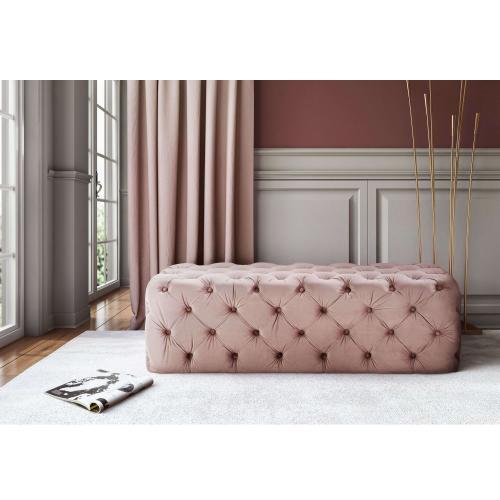 Tov Furniture - Kaylee Mauve Tufted Velvet Ottoman