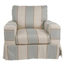 Sunset Trading Americana Slipcovered Chair - Color: 479541