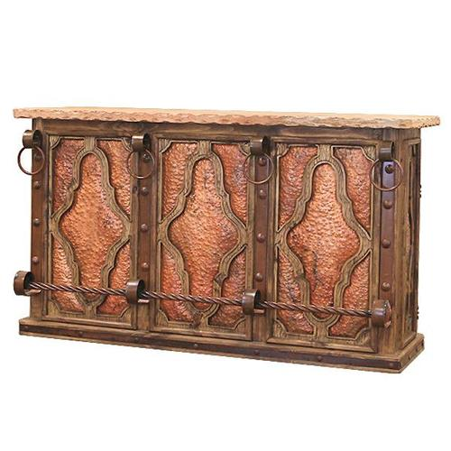 L.M.T. Rustic and Western Imports - Bar W/Front Copper Panels