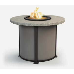 "48"" Round Balcony Fire Table Ht: 34.5"" Valero Aluminum Base (Indicate Top, Frame, & Side Panel Color)"