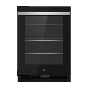 "24"" NOIR Under Counter Glass Door Refrigerator, Left Swing"