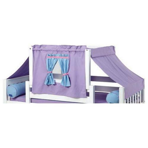 See Details - Top Tent Fabric (Twin) : Purple/Light Blue/Hot Pink