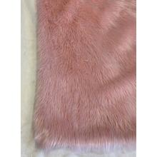 "Modern Fox Faux Fur Luxury Area Rug Appx. 3"" Pile Height by Rug Factory Plus - 5' x 7' / Pink"
