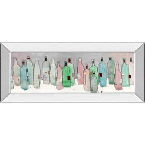 """Wine Party III"" By Samuel Dixon Mirror Framed Print Wall Art"
