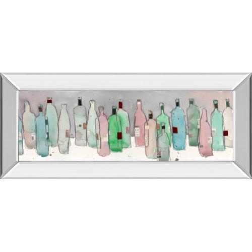 "Classy Art - ""Wine Party III"" By Samuel Dixon Mirror Framed Print Wall Art"