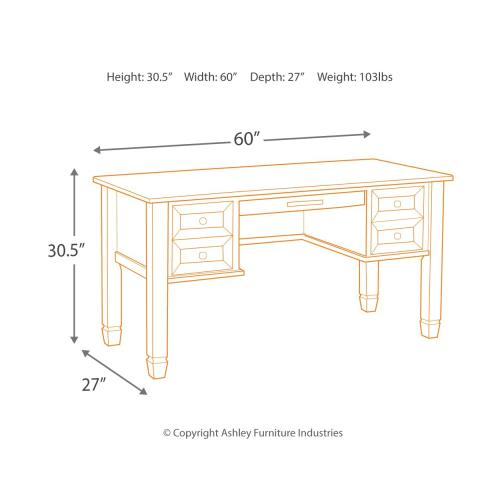 """Townser 60"""" Home Office Desk"""