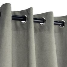See Details - Sunbrella Canvas Charcoal Outdoor Curtain with Grommets