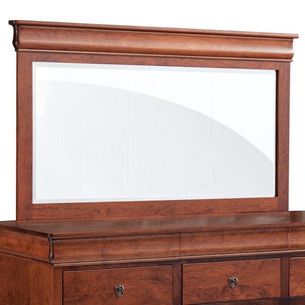 See Details - Louis Philippe Bureau Mirror, 64'w x 31'h