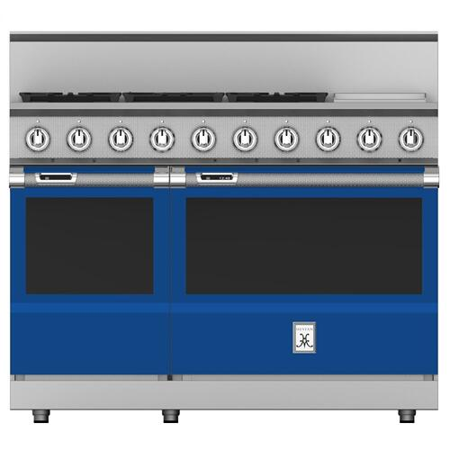 "48"" 5-Burner Dual Fuel Range with 12"" Griddle - KRD Series - Prince"