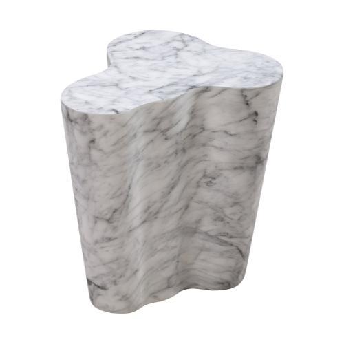 Tov Furniture - Slab Marble Short Side Table