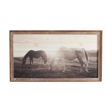 See Details - Framed Slat Horses at Sunset Wall Decor