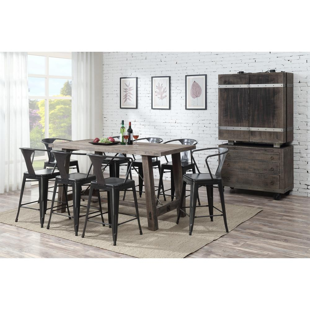 Dakota Bar Cabinet, Weathered Brown D570-50