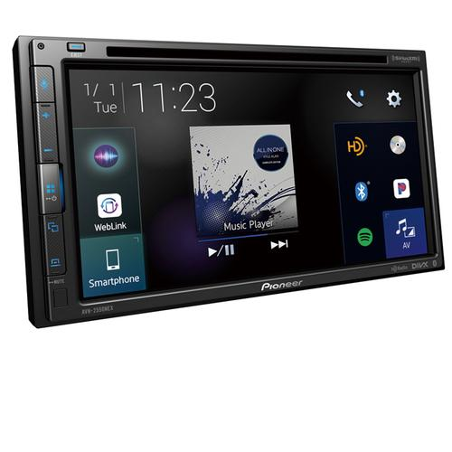 """Multimedia DVD Receiver with 6.8"""" WVGA Display, Apple CarPlay , Android Auto , Built-in Bluetooth ® , SiriusXM-Ready , iDataLink ® Maestro and Remote Control Included"""