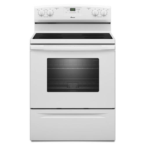 Gallery - Amana® 30-inch Amana® Electric Range with Versatile Cooktop - White