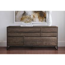 Nevada Rustic Oak Wood Sideboard In Dark Brown