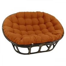 Bali Mamasan Rattan Double Papasan Chair with Twill Cushion - Walnut/Spice