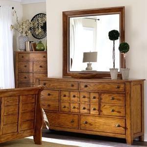Liberty Furniture Industries - Queen Sleigh Bed, Dresser & Mirror, Chest
