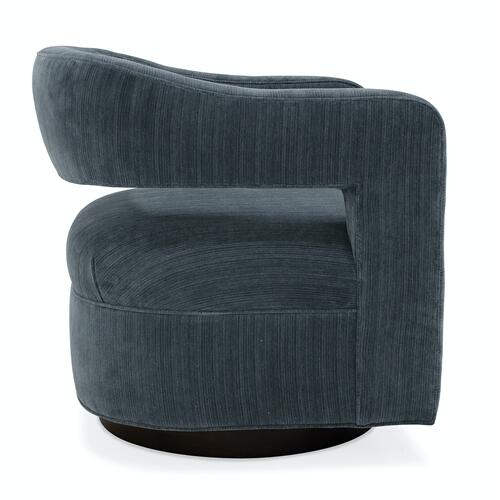Sam Moore Furniture - Living Room Max Swivel Chair - Wood Base