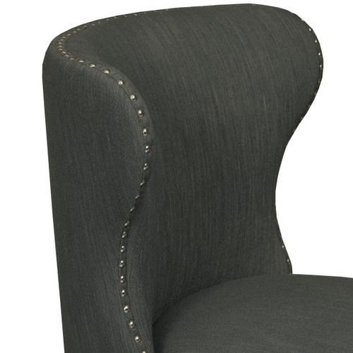 Modified Wing Back Accent Chair in Dupree Steel