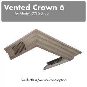 ZLINE Vented Crown Molding Profile 6 For Wall Mount Range Hood (CM6V-300G) -