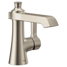 Flara Brushed nickel one-handle high arc bathroom faucet