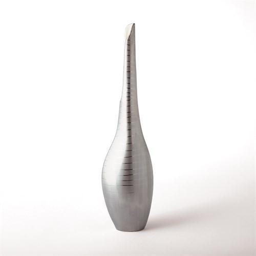 Platinum Stripe Vase-Sm
