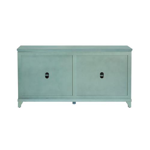 Blue Four Door Cabinet
