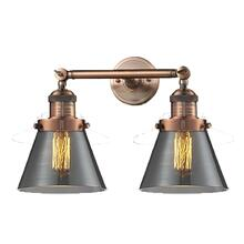 208-AC-G63 - SMALL GLASS CONE 2 LTWALL SCONCE