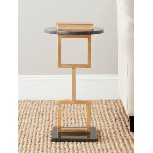 Cassidy Gold Leaf Accent Table - Gold / Black