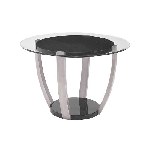 Orbit Round Dining Glass Top Table