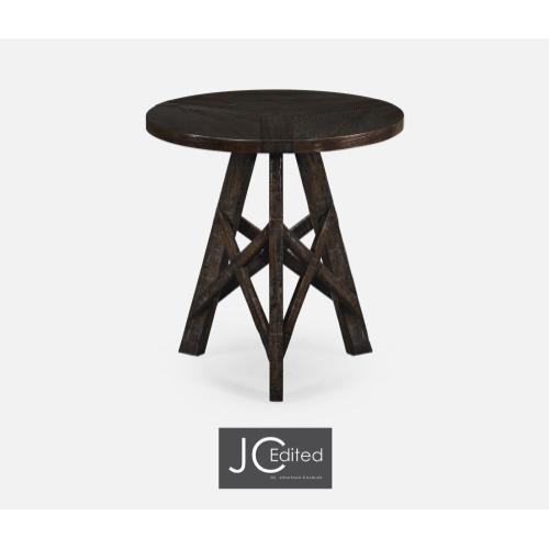 Dark Ale Circular Lamp Table