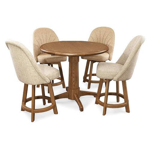 Chromcraft - Table Base: Pedestal (chestnut)
