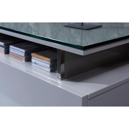 Modrest Hurst Contemporary Grey Gloss TV Stand