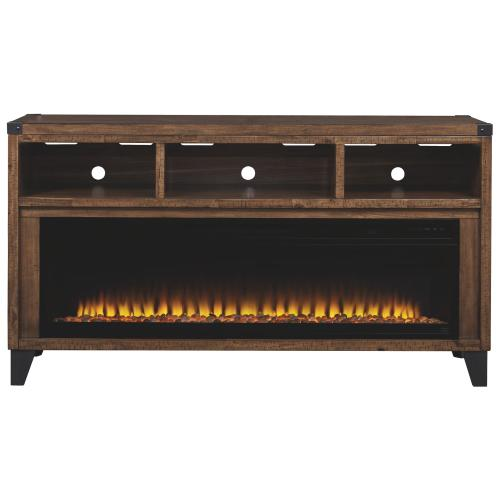 """Ashley Millennium - Royard 65"""" TV Stand With Electric Fireplace"""