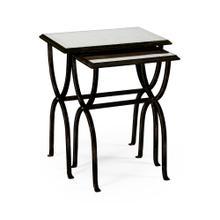 glomise & Bronze Iron Nest of Tables