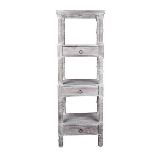 Mahogany Shelves - Distressed Gray